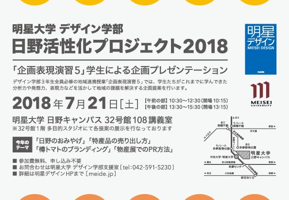 日野市活性化プロジェクト2018 プレゼンテーションのご案内